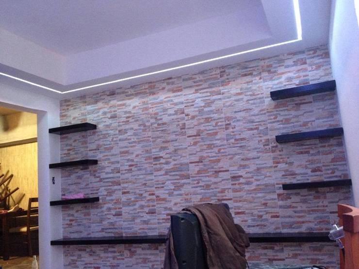 Living room by PROGRESIVA ARQUITECTOS