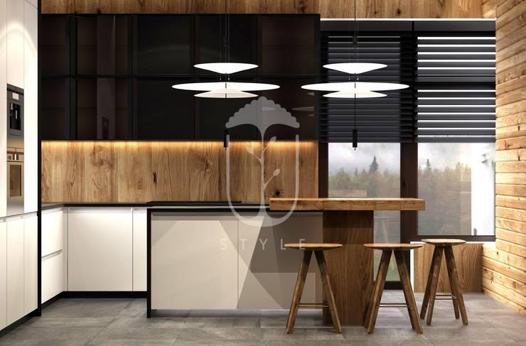 Cocinas de estilo rural de U-Style design studio Rural Madera Acabado en madera