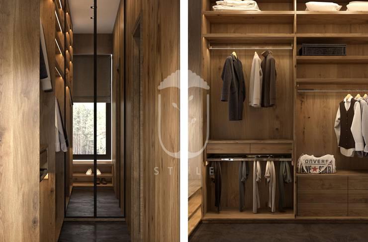 Closets de estilo rural de U-Style design studio Rural Madera Acabado en madera