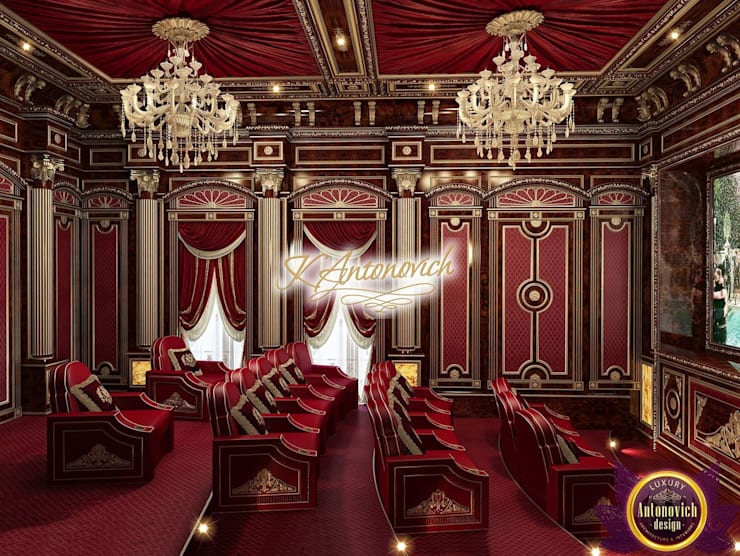 ​Best home cinema design of Katrina Atonovich:  Media room by Luxury Antonovich Design