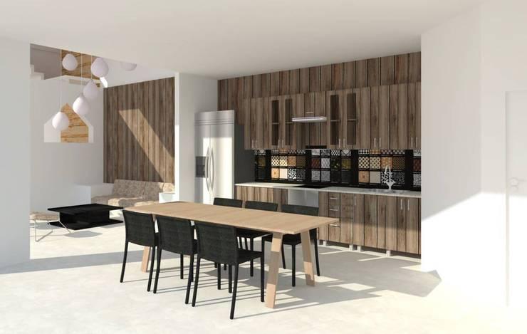 Phối cảnh bếp và phòng ăn.:   by Cat-Studio