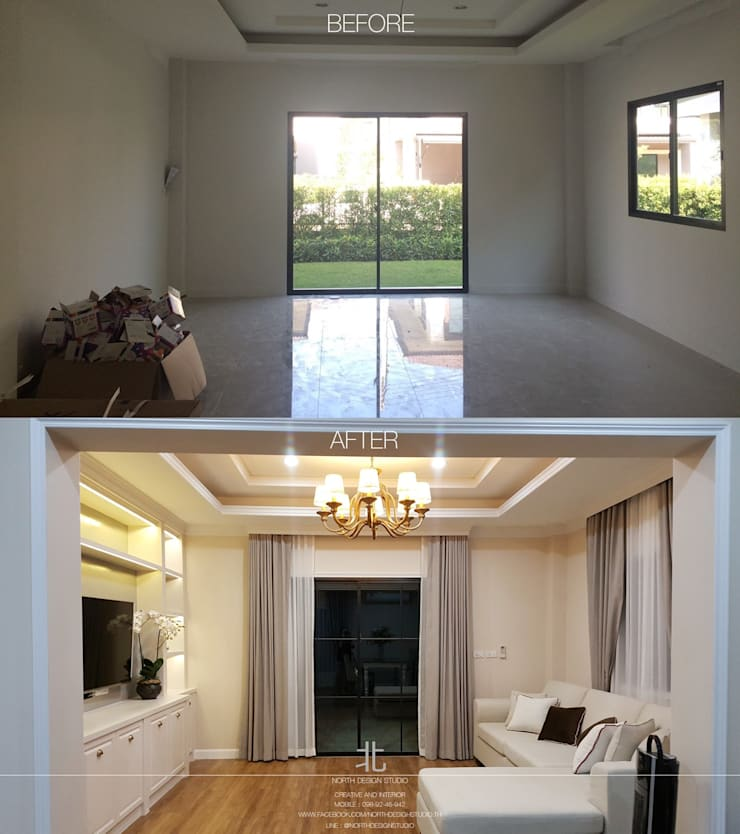 Wararom Premium Sala-Klang:   by เหนือ ดีไซน์ สตูดิโอ (North Design Studio)