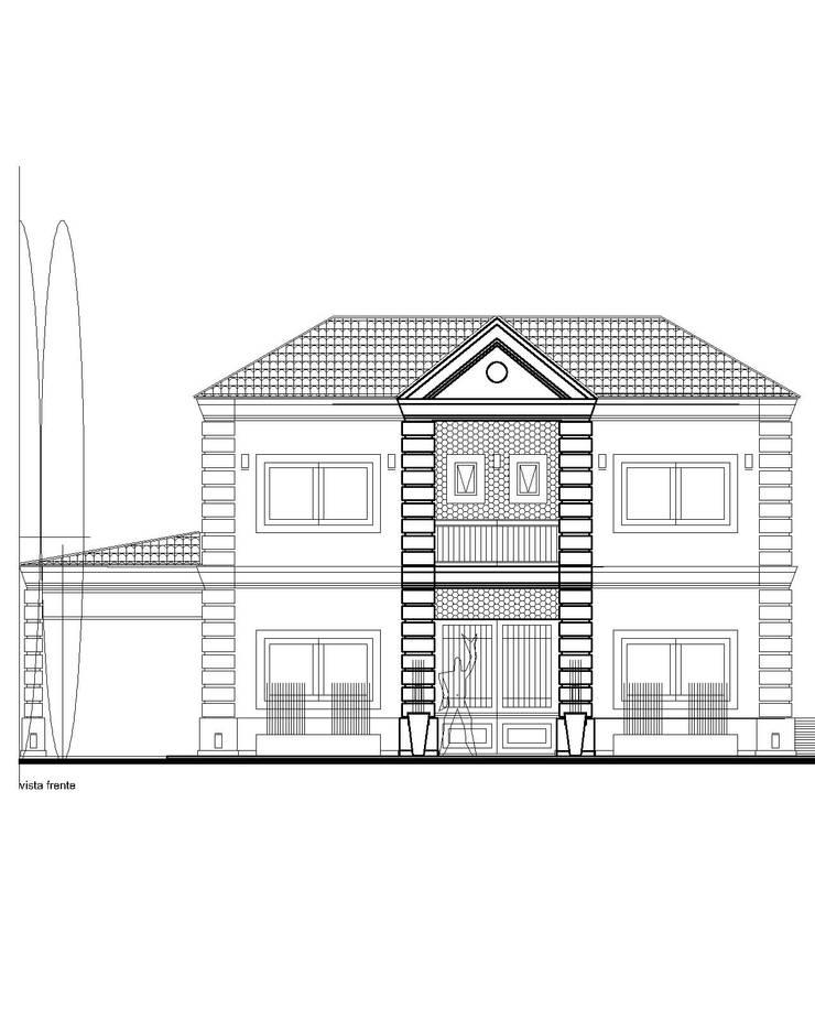 anteproyecto casa clásica contemporánea:  de estilo  por 253 ARQUITECTURA