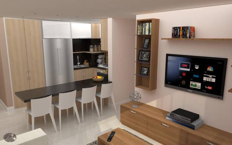 Apartamento AF1: Cocinas de estilo  por TRIBU ESTUDIO CREATIVO