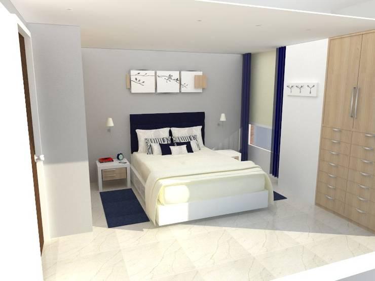 Apartamento AF1: Cuartos de estilo  por TRIBU ESTUDIO CREATIVO