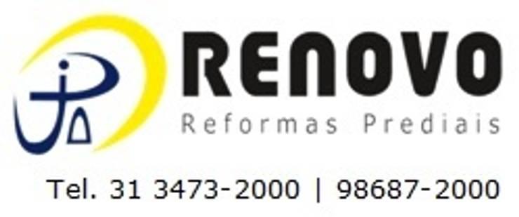 Projekty,  Biurowce zaprojektowane przez Renovo Reformas Retrofit Fachada 3473-2000 em Belo Horizonte, Klasyczny Marmur