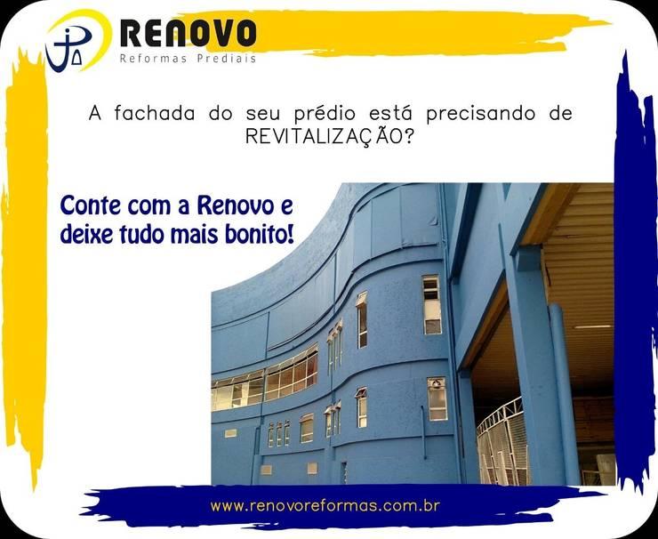 Projekty,  Salony samochodowe zaprojektowane przez Renovo Reformas Retrofit Fachada 3473-2000 em Belo Horizonte, Klasyczny Wzmocniony beton