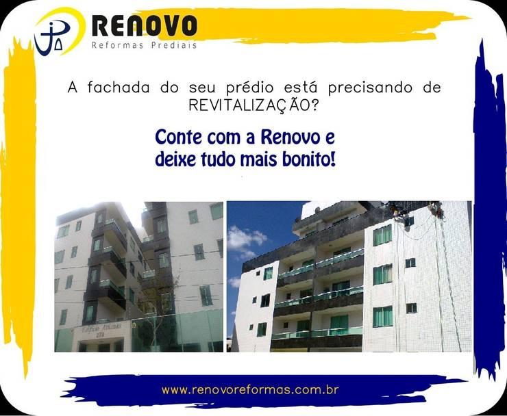 Projekty,  Centra wystawowe zaprojektowane przez Renovo Reformas Retrofit Fachada 3473-2000 em Belo Horizonte, Klasyczny Guma