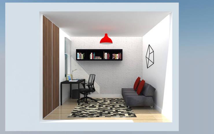 PH 513: Salas de entretenimiento de estilo  por TRIBU ESTUDIO CREATIVO