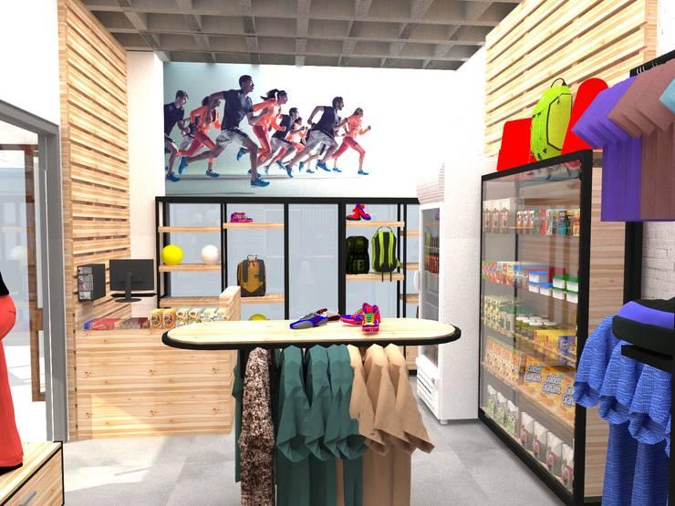 Tienda Spacio Top: Espacios comerciales de estilo  por TRIBU ESTUDIO CREATIVO
