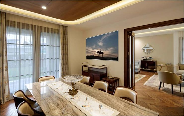 Aggarwal Residence: modern Dining room by groupDCA