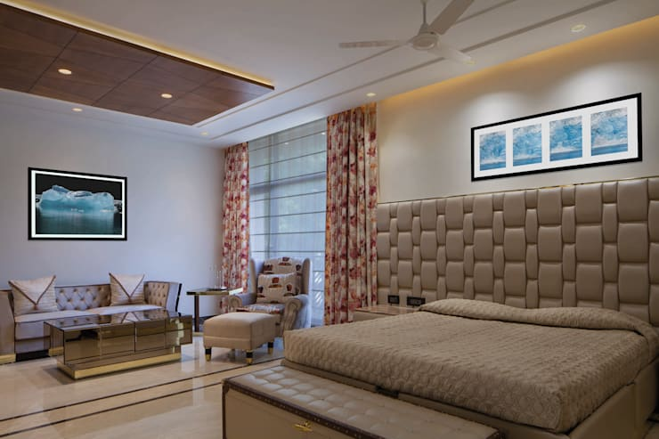 Gujral Residence:  Bedroom by groupDCA,Modern