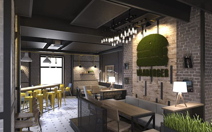 Green logo—Varburger bar, Dniproperivsk, Ukraine : modern Conservatory by Moss Trend