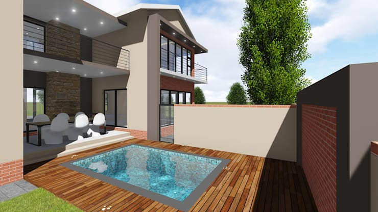 Pool deck:   by JOHAN NAUDE ARCHITECHNOLOGY
