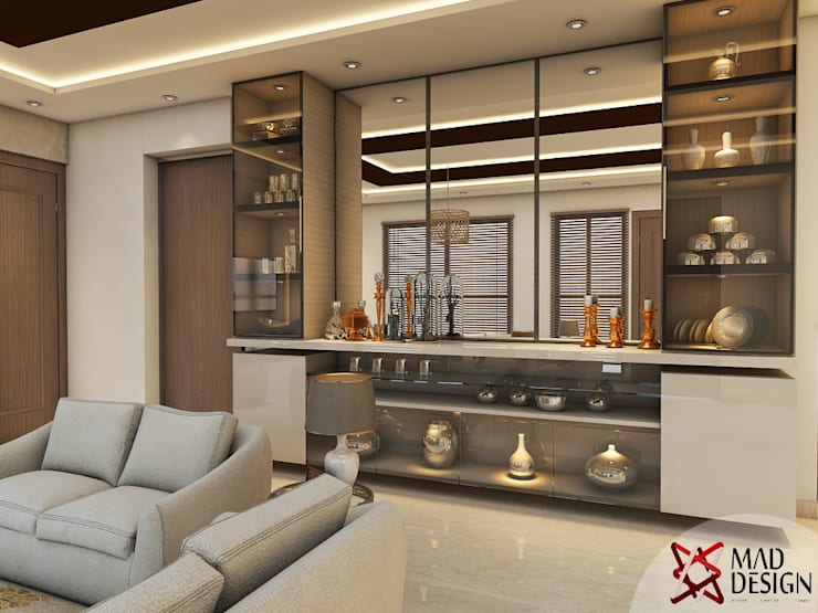 LIVING ROOM - VIEW 1:  Living room by MAD DESIGN