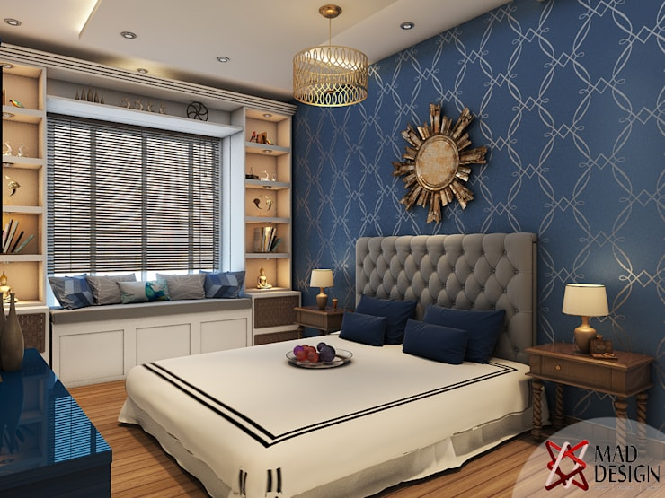 MASTER BEDROOM - VIEW 1:  Bedroom by MAD DESIGN