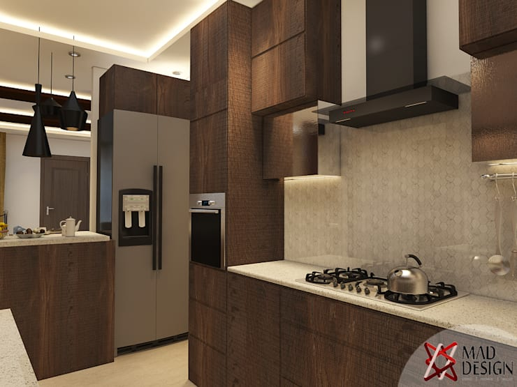 KITCHEN - VIEW 1:  Kitchen by MAD DESIGN