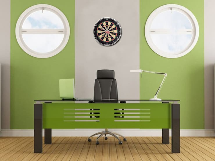 Nextime Barney Wall Clock:  Study/office by Just For Clocks