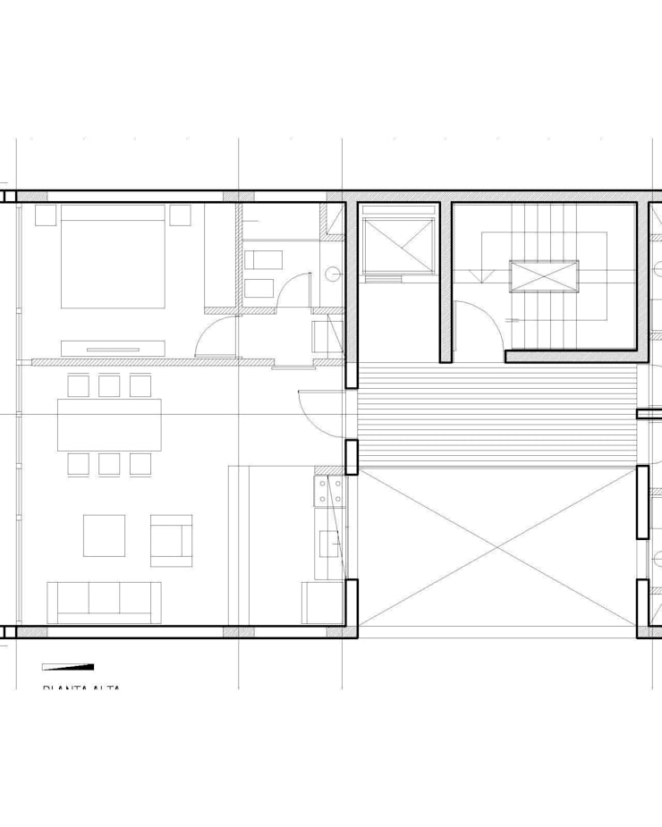 algunos dibujos: Casas unifamiliares de estilo  por 253 ARQUITECTURA