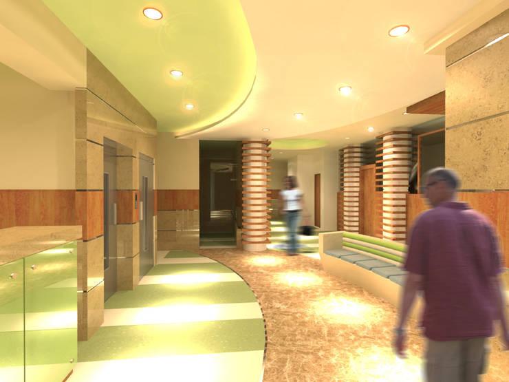 لقطة 1 للمدخل :  مستشفيات تنفيذ Quattro designs , حداثي