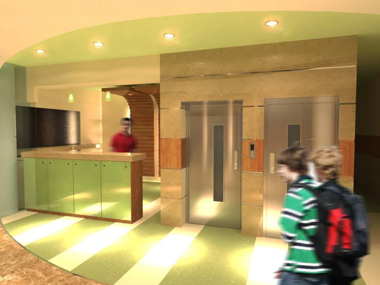 لقطة 3 للمدخل :  مستشفيات تنفيذ Quattro designs , حداثي