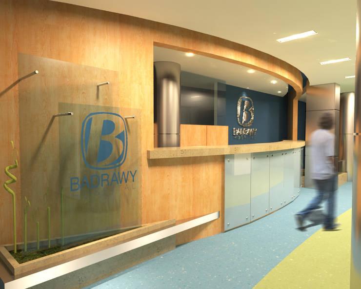 لقطة لمدخل الدور الاول :  مستشفيات تنفيذ Quattro designs , حداثي
