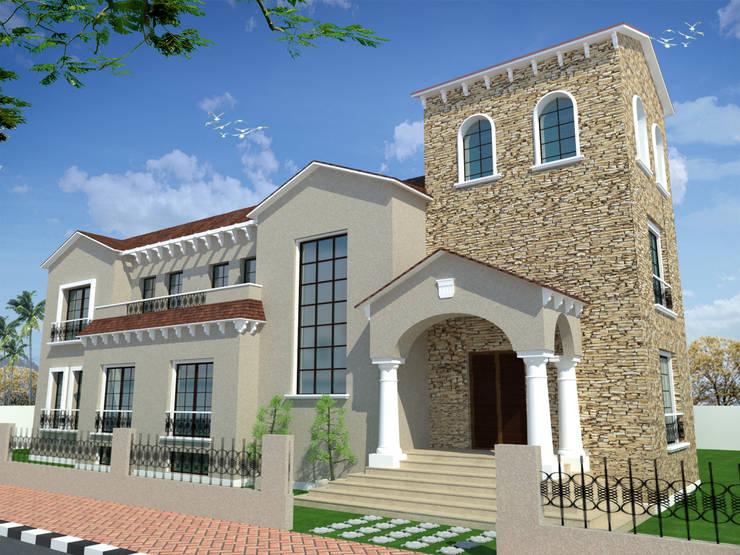 فيلا سكنية في الشروق بالقاهرة :   تنفيذ Quattro designs ,