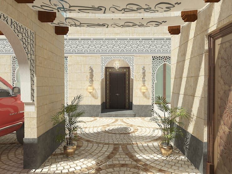 لقطة لمدخل الفيلا :   تنفيذ Quattro designs ,