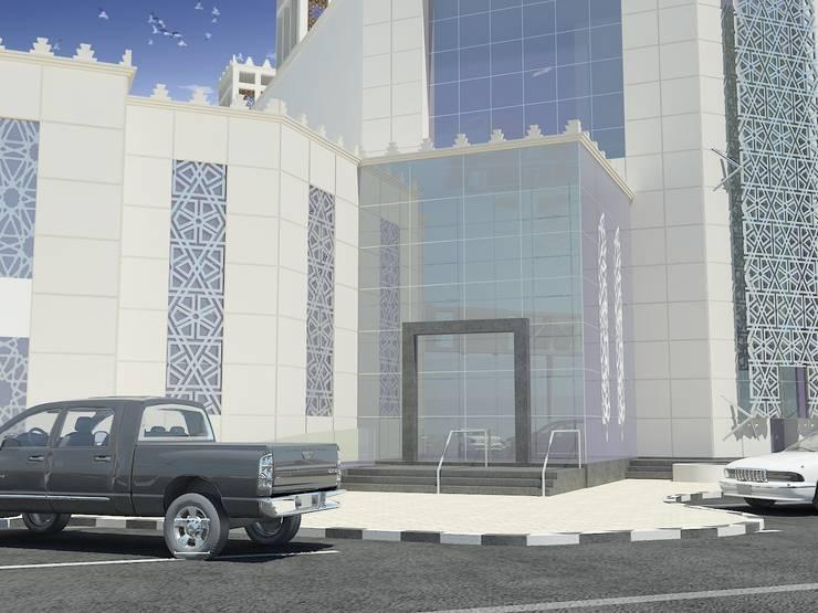 لقطة لمدخل المبنى :   تنفيذ Quattro designs