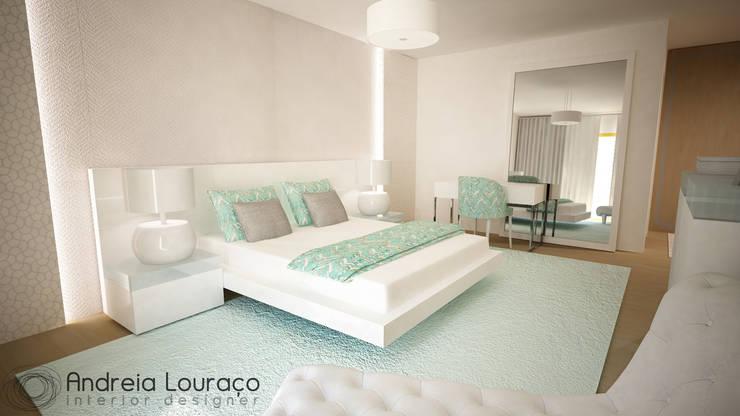 """Projecto de Decoração """"Like Green"""": Quartos minimalistas por Andreia Louraço - Designer de Interiores (Contacto: atelier.andreialouraco@gmail.com)"""
