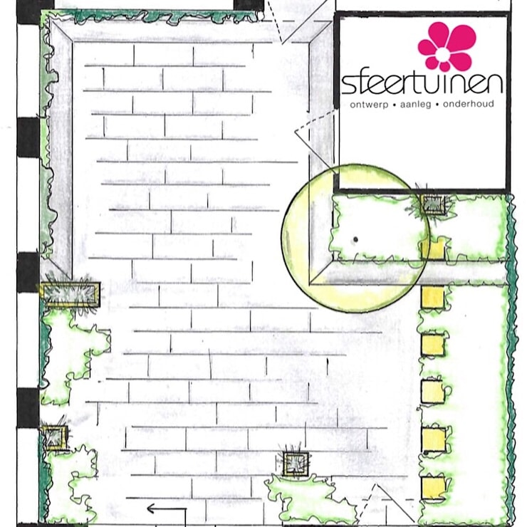 Jardin de style  par Sfeertuinen, Industriel Béton