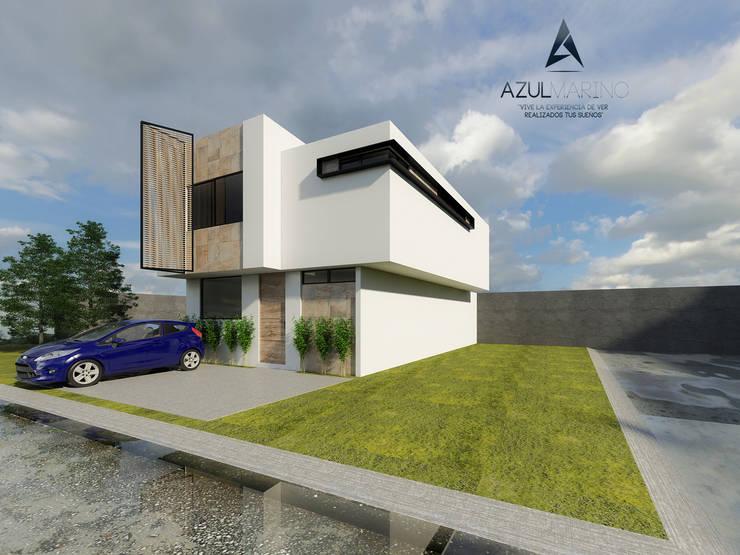 Propuesta Prototipo Especial Cadiz en Esquina Vista 1:  de estilo  por AZUL MARINO ARQUITECTOS