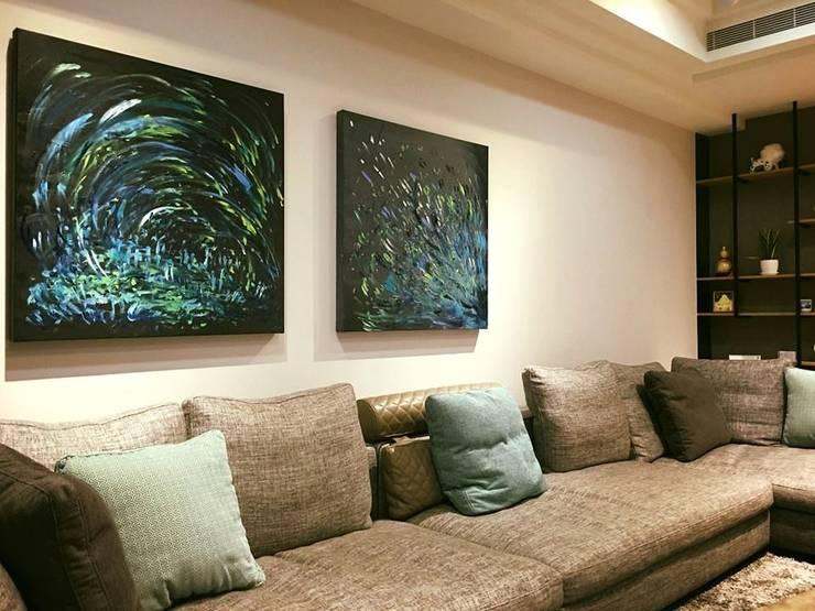 藝術品:  客廳 by 見和空間設計