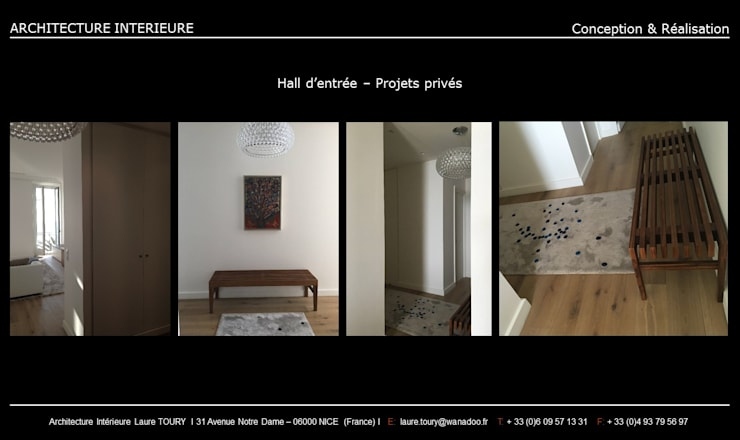 Hall d\'entrée von Architecture interieure Laure Toury | homify