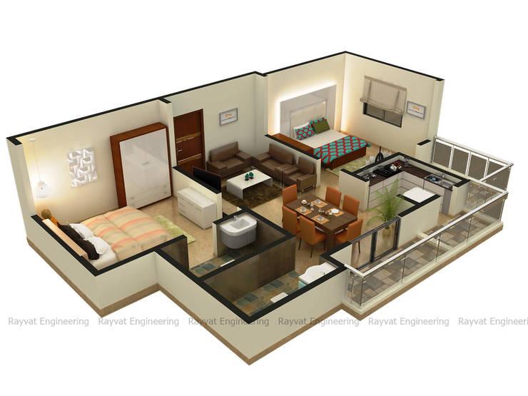 3D Floor Plan Services:   by Rayvat Rendering Studio