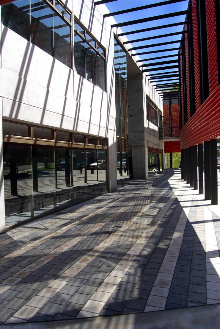 Policia de Belen Pasillos, vestíbulos y escaleras de estilo moderno de ARQUITECTOS URBANISTAS A+U Moderno