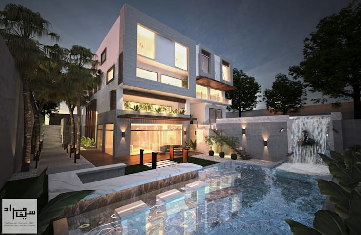 Backyard Facade:  Villas by Saif Mourad Creations - SMC