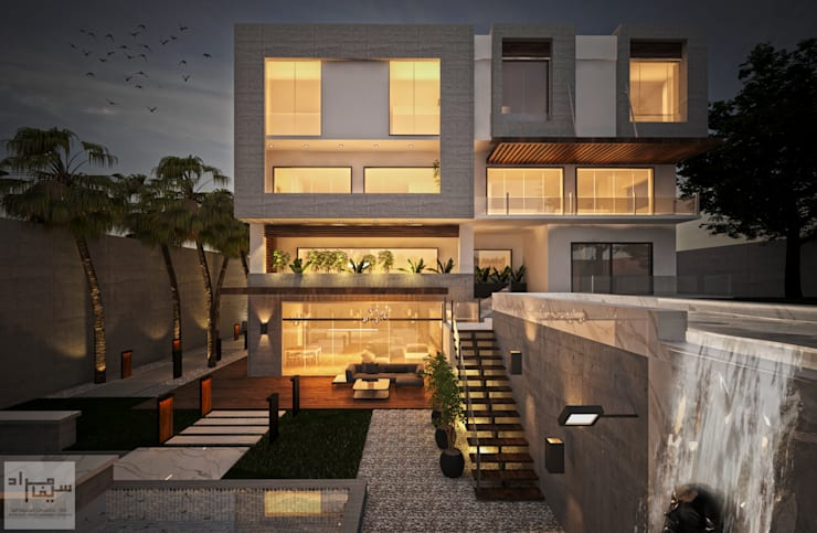 the backyard facade:  Villas by Saif Mourad Creations - SMC