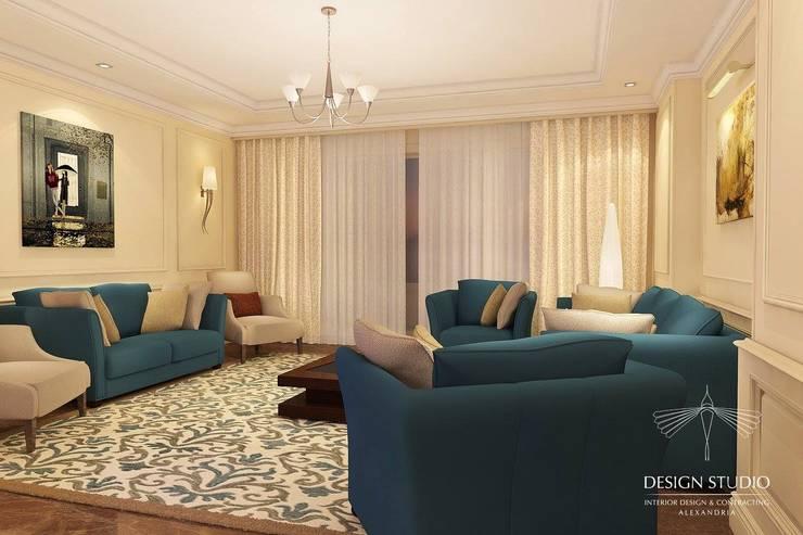 Contemporary Apartment:  غرفة المعيشة تنفيذ Design.Studio