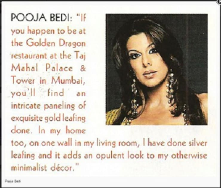 Silver Leafing Done for Booja Bedi Home :  Bedroom by The Gold Leafing Studio
