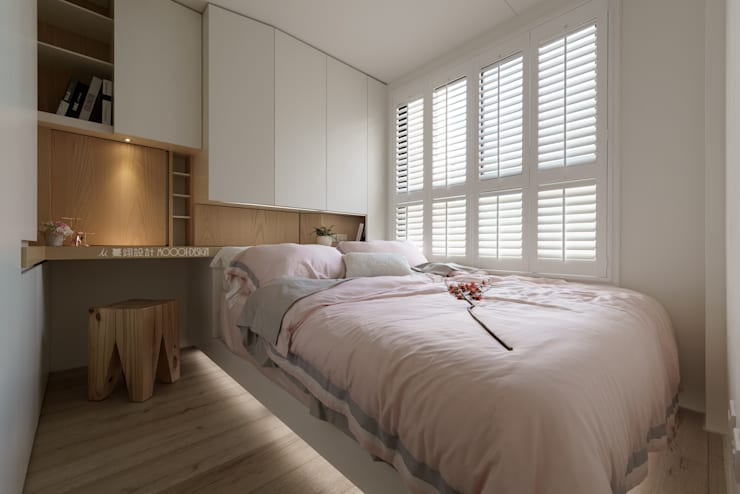 臥房:  臥室 by Moooi Design 驀翊設計