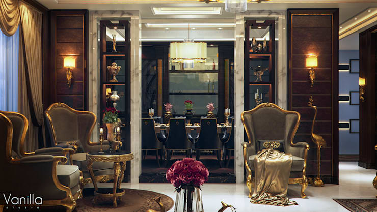 Luxurious Interior New Cairo: classic Dining room by Vanilla Studio