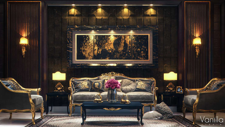 Luxurious Interior New Cairo: classic Living room by Vanilla Studio