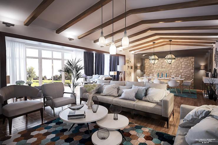 Modern Vintage Villa:   تنفيذ Mustafa Adel Architecture Visualization