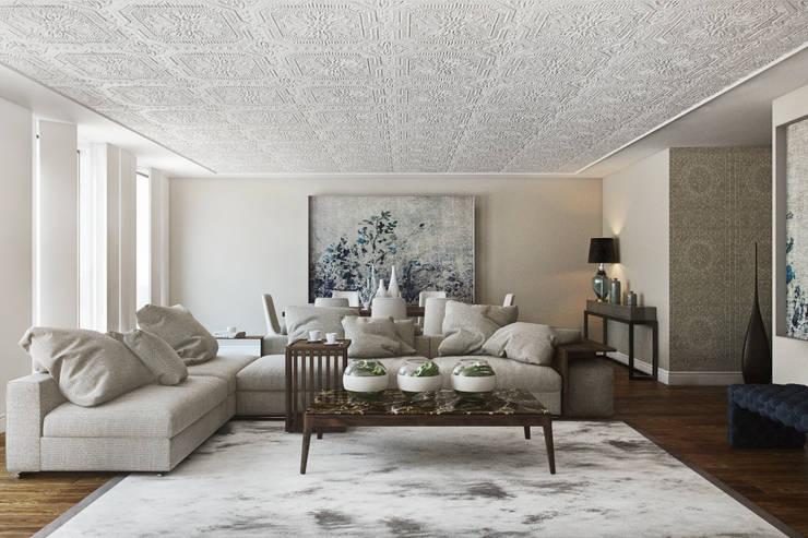 Rua do Alecrim - Lisbon: Salas de estar ecléticas por DZINE & CO, Arquitectura e Design de Interiores