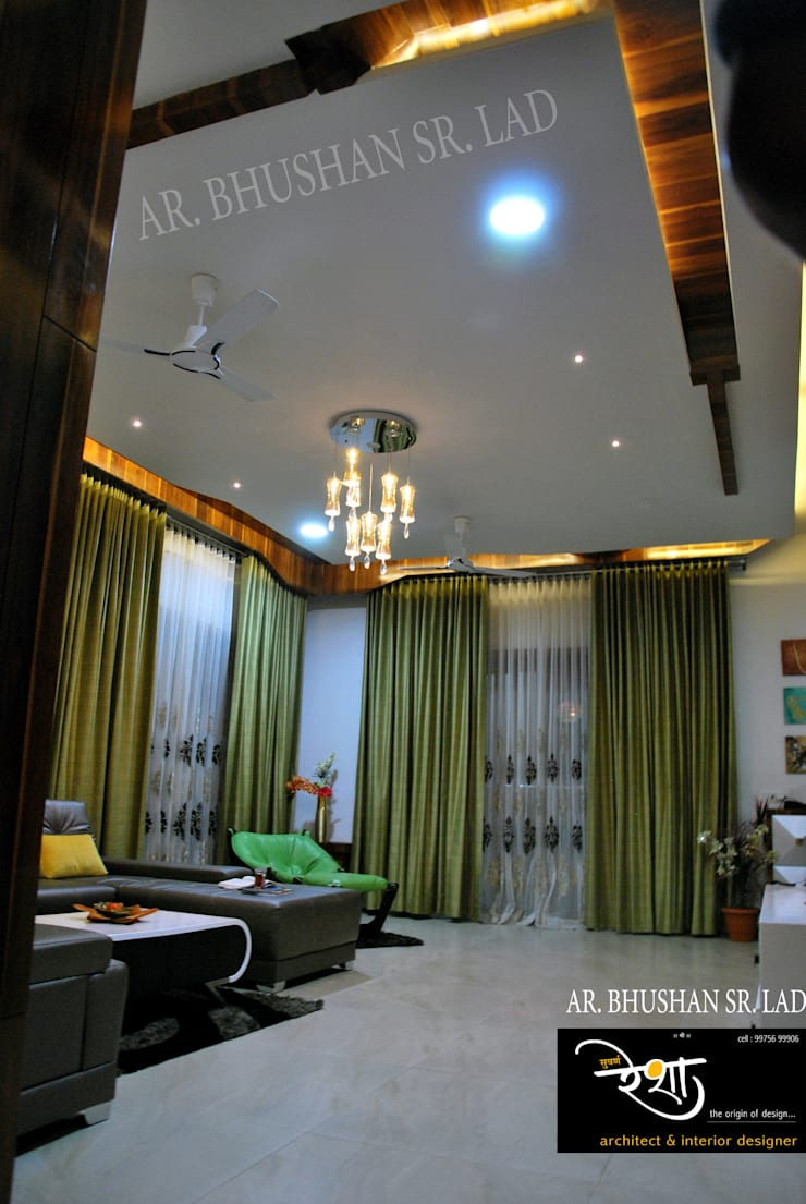Living room: modern Living room by Suvarna RESHA Architect  & Interior  Designer studio