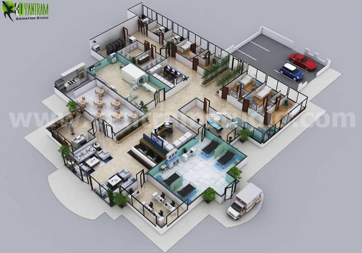 Hospitals by Yantram Architectural Design Studio