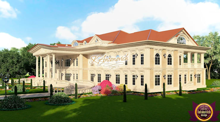 Architectural project in the classical style by Katrina Antonovich:  Houses by Luxury Antonovich Design, Classic