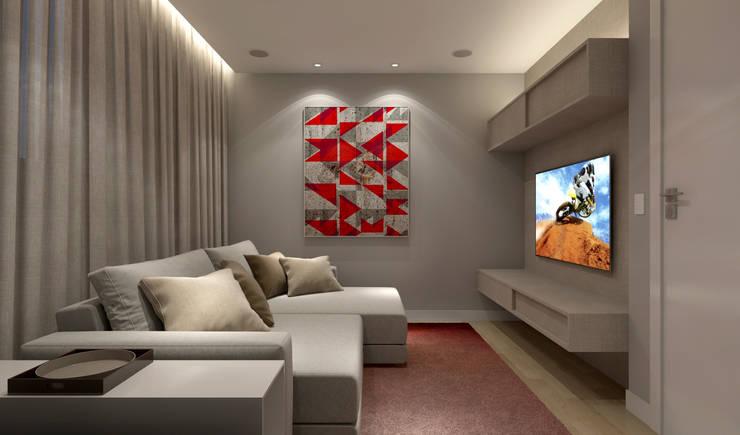 Sala Multimídia: Salas multimídia  por RAFE Arquitetura e Design