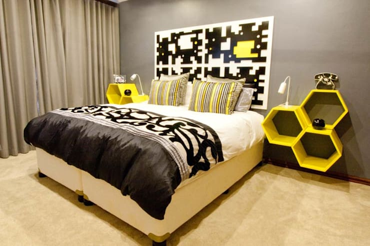 House James : modern Bedroom by Redesign Interiors